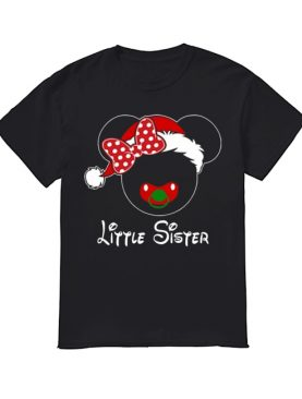Minnie Santa Claus Little Sister Family Christmas Toddler shirt