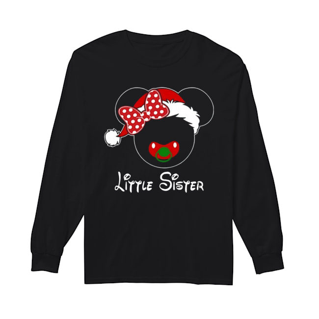 Minnie Santa Claus Little Sister Family Christmas Toddler Long Sleeved T-shirt