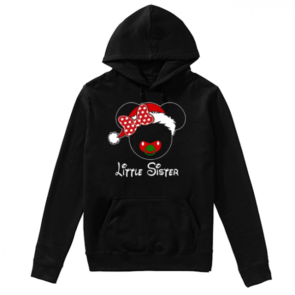 Minnie Santa Claus Little Sister Family Christmas Toddler  Unisex Hoodie
