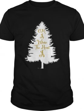 OM Is Where The Heart Is Christmas Tree Yoga shirt