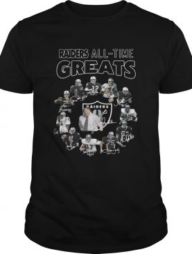 Oakland Raiders Players All Time Greats Signatures shirt