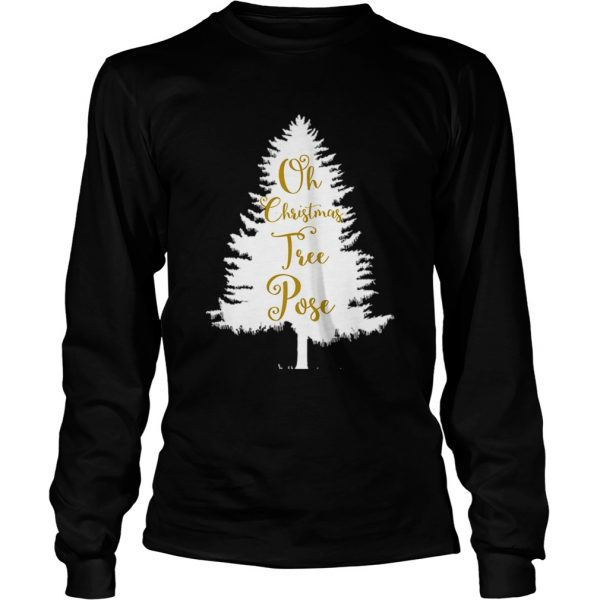 Oh Christmas Tree Pose Song Yoga Workout  LongSleeve