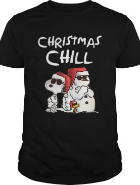 Snoopy Chillin Christmas Charlie Brown Graphic shirt