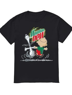 Snoopy and Charlie Brown Mountain Dew shirt