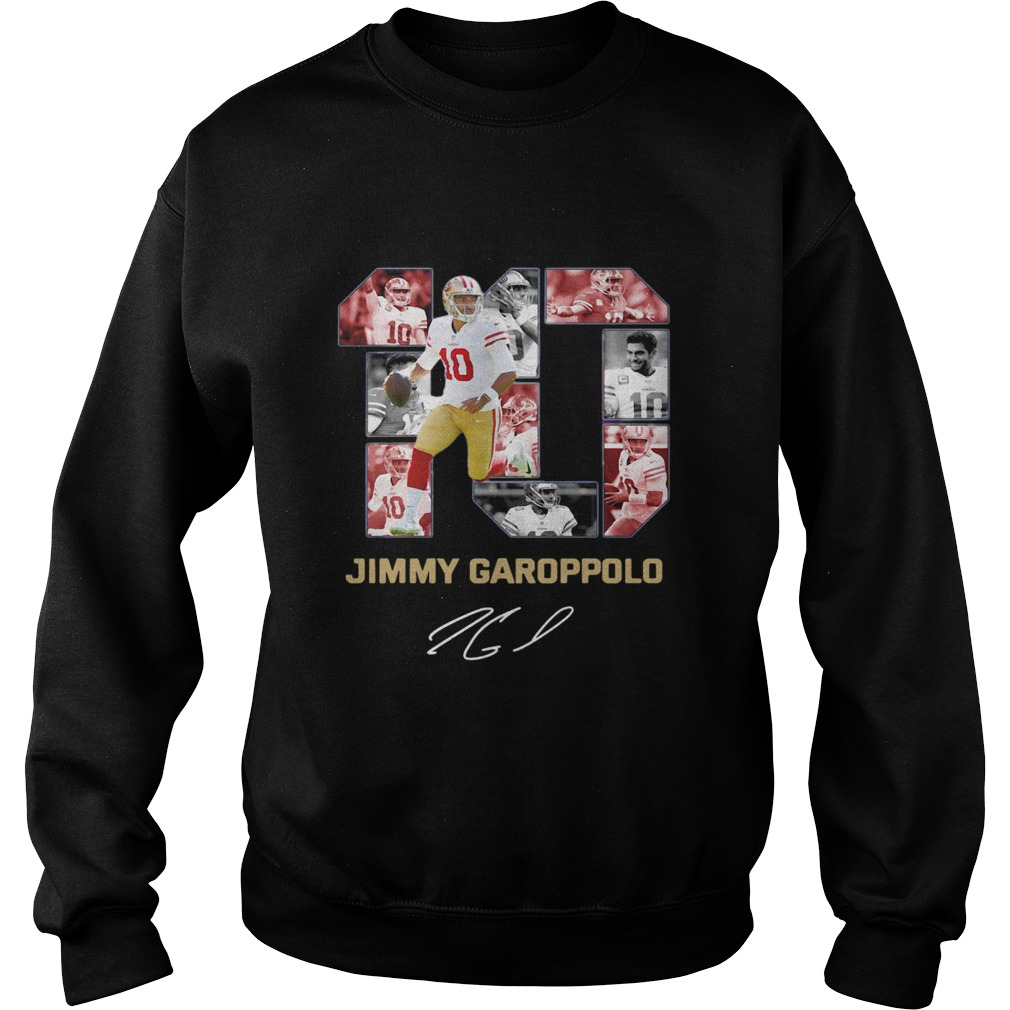 10 Jimmy Garoppolo San Francisco 49ers Signature Sweatshirt
