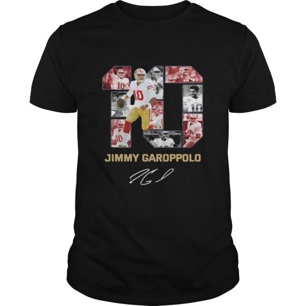 10 Jimmy Garoppolo San Francisco 49ers Signature  Unisex