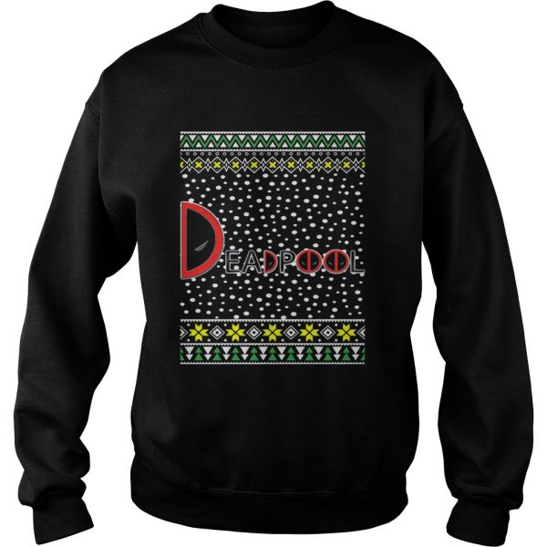 Deadpool Logo Ugly Christmas  Sweatshirt