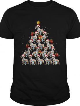 Jack Russell Dog Lights Lover Christmas Tree shirt