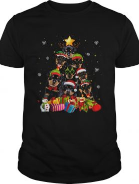 Rottweiler Christmas Tree shirt