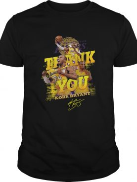 Thank you 24 Kobe Bryant Los Angeles Lakers signature shirt