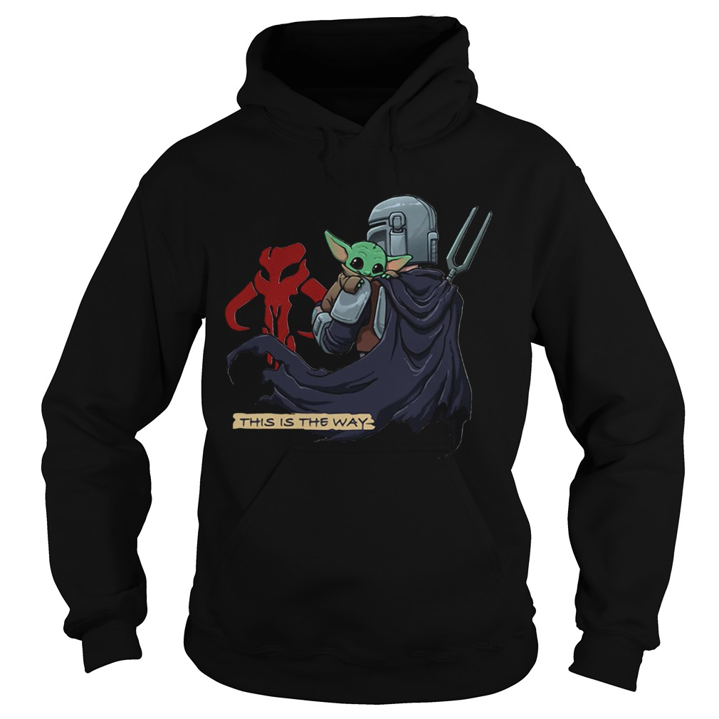 This Is The Way Baby Yoda Mandositting Hoodie