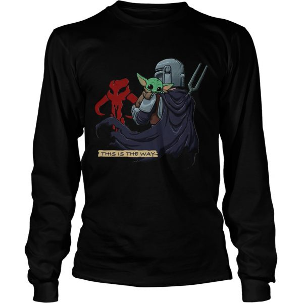 This Is The Way Baby Yoda Mandositting  LongSleeve