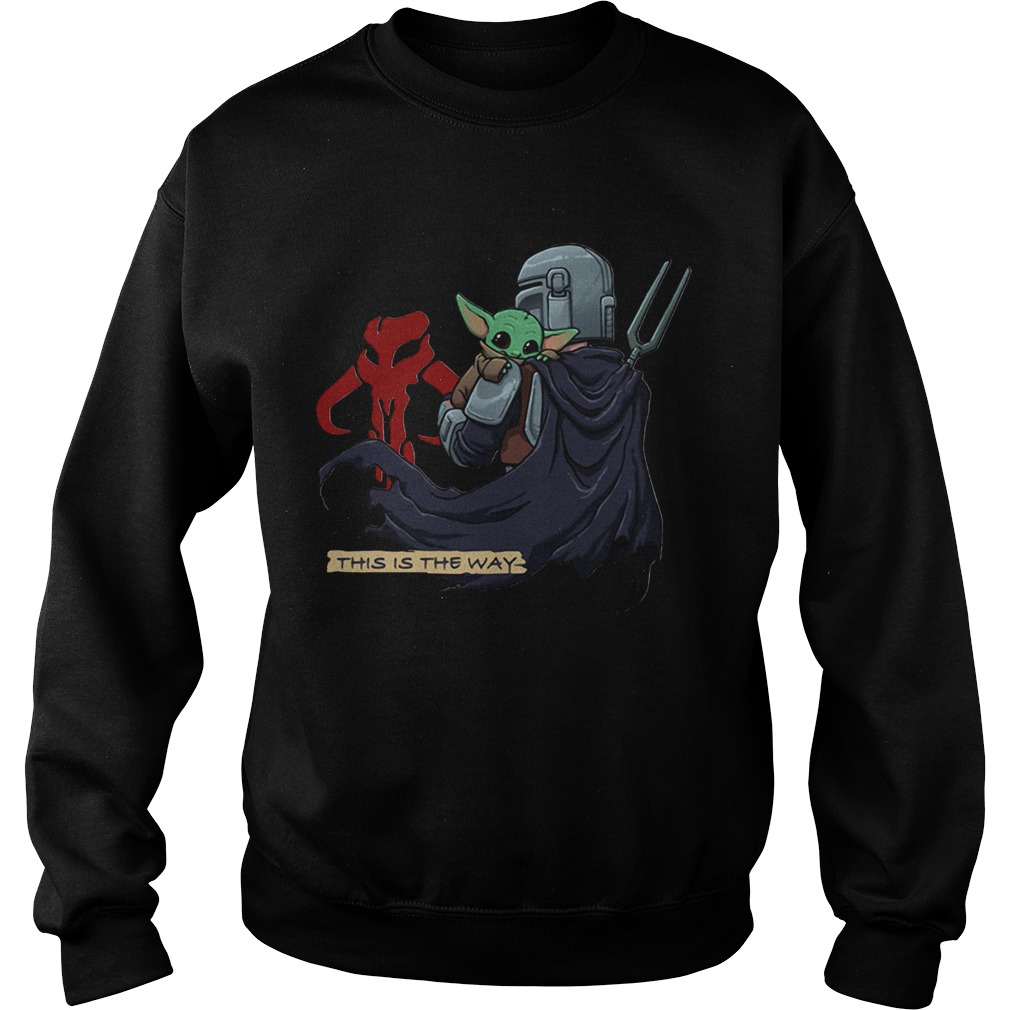 This Is The Way Baby Yoda Mandositting Sweatshirt