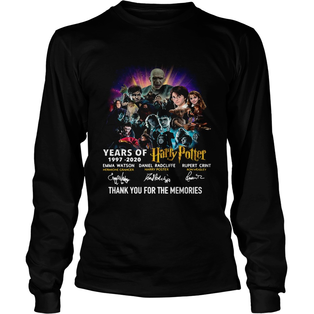 23 Years Of Harry Potter Thank You For The Memories LongSleeve