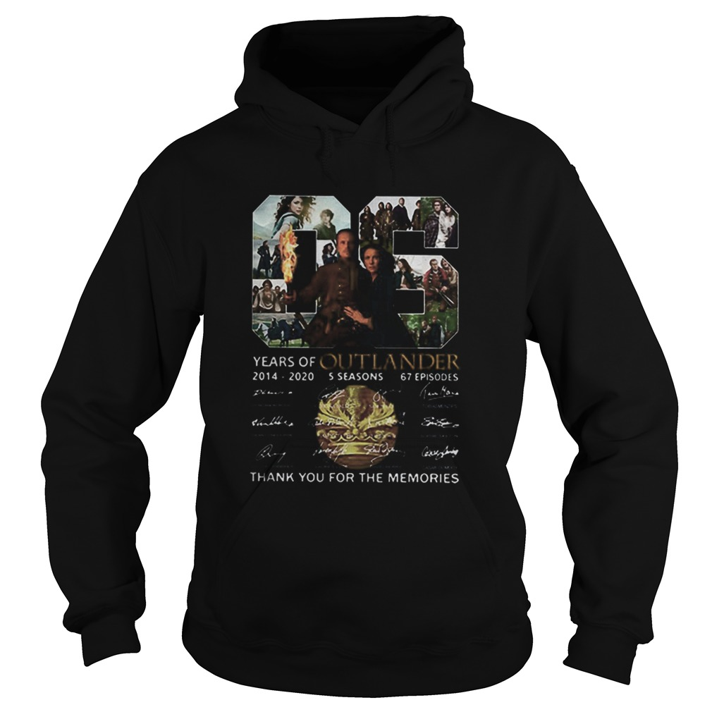 06 Years Of Outlander 2014 2020 Signatures Hoodie