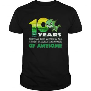 1581065905T-rex Dinosaur 10th Birthday Shirt for Awesome 9 Year Old  Unisex