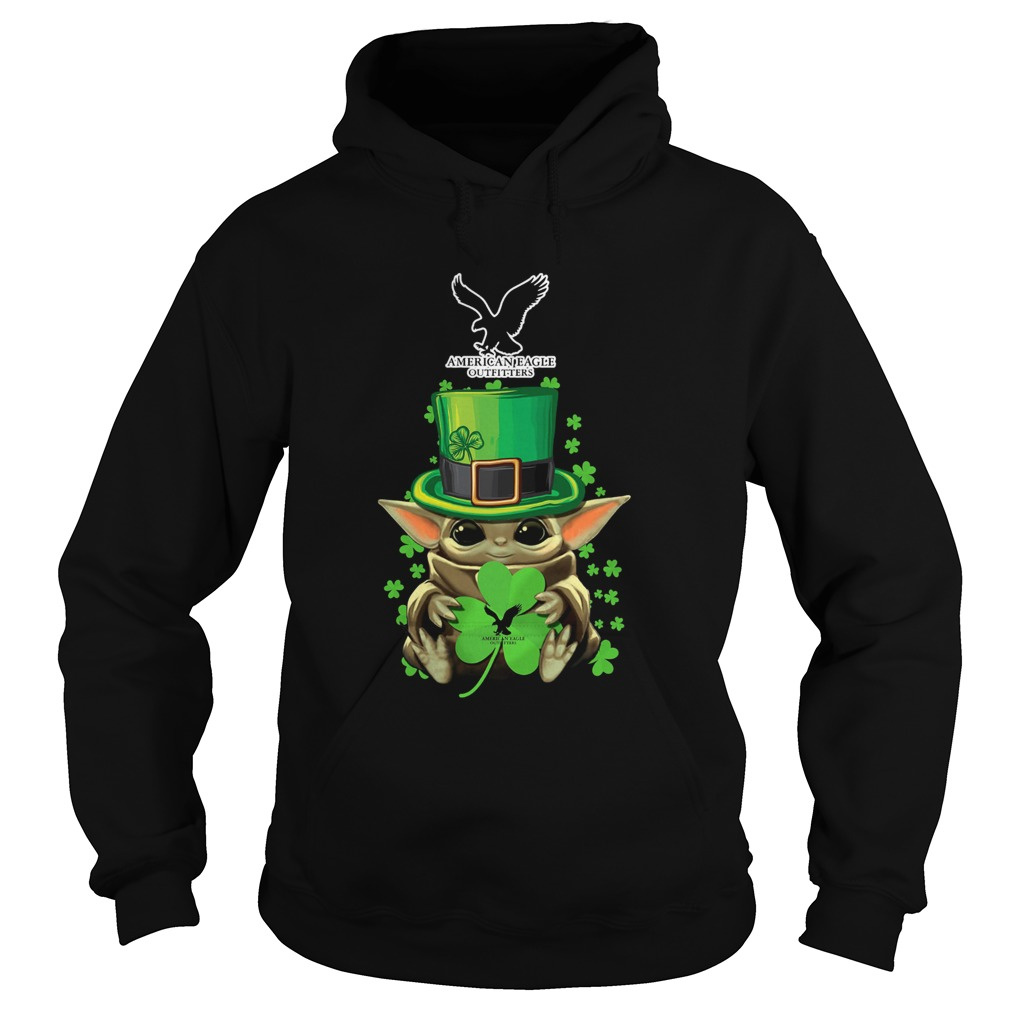 Baby Yoda American Eagle Outfitters Shamrock StPatricks Day Hoodie