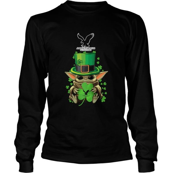 Baby Yoda American Eagle Outfitters Shamrock StPatricks Day  LongSleeve