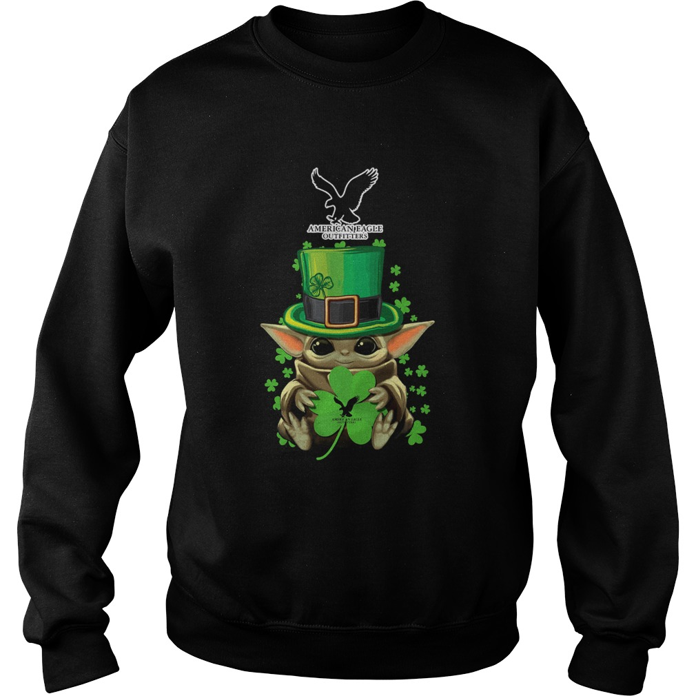 Baby Yoda American Eagle Outfitters Shamrock StPatricks Day Sweatshirt