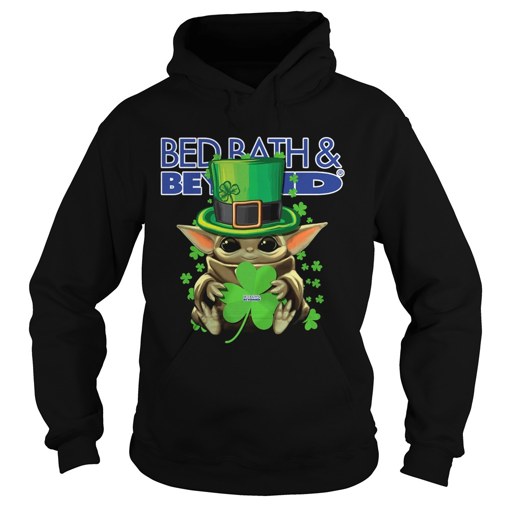 Baby Yoda Bed BathBeyond Shamrock StPatricks Day Hoodie