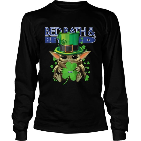 Baby Yoda Bed BathBeyond Shamrock StPatricks Day  LongSleeve