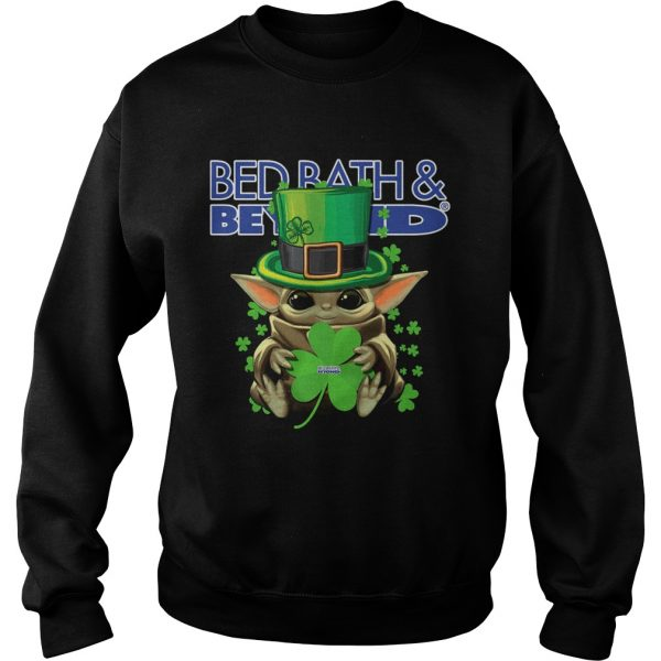 Baby Yoda Bed BathBeyond Shamrock StPatricks Day  Sweatshirt