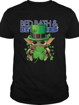 Baby Yoda Bed BathBeyond Shamrock StPatricks Day shirt