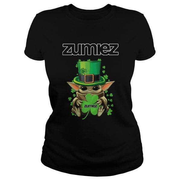 Baby Yoda Zumiez Shamrock StPatricks Day  Classic Ladies