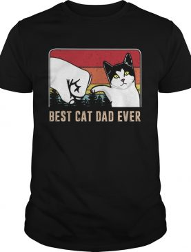 Best cat dad ever sunset vintage shirt