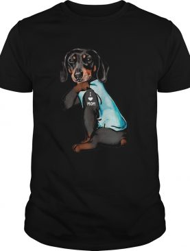 Dachshund Tattoo I Love Mom shirt