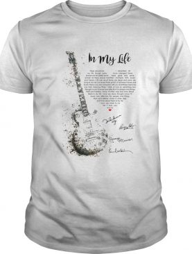 Guitar Signatures In My Life shirt