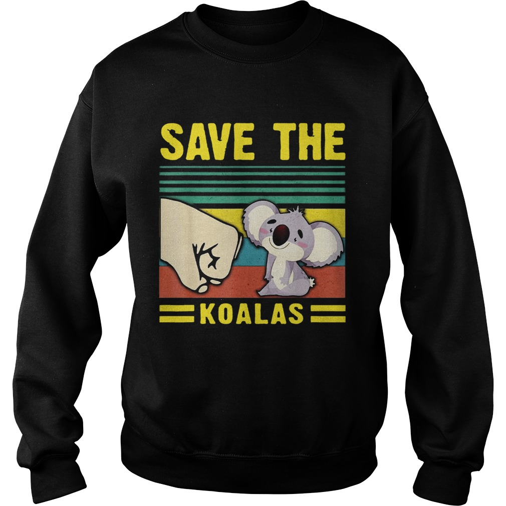 Save the Koalas VintageSave the Earth Sweatshirt