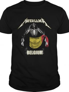 Skeleton Metallica Belgium Flag shirt