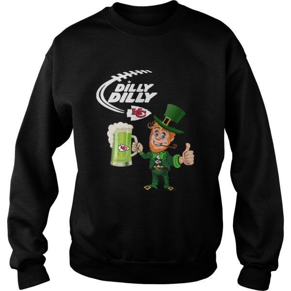 Uncle Sam Dilly Dilly Kansas City Chief St Patricks Day  Sweatshirt