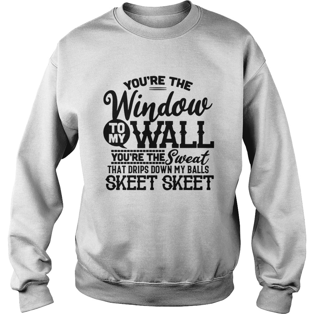 Youre The Window To My Wall Youre The Sweat That Drips Down My Balls Sweatshirt