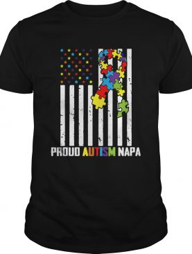 Autism Awareness Shirt American Flag Proud Autism Napa shirt