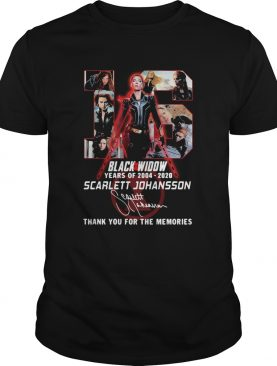 Black Widow 16th Years Of 20042020 Scarlett Johansson Signature shirt