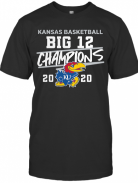 Kansas Jayhawks 2020 Big 12 Basketball Champions T-Shirt
