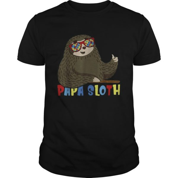 Papa Sloth Autism Awareness Dad Proud Fathers Day  Unisex
