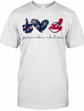Peace Love Cleveland Indians T-Shirt