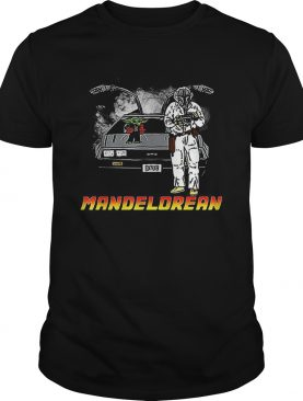 The Mandalorian and Baby Yoda Mandelorean DMC DeLorean shirt