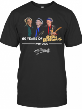 60 Years Of Keith Richards 1960 2020 Signature T-Shirt