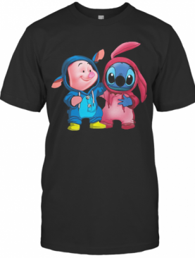 Baby Piglet And Stitch T-Shirt