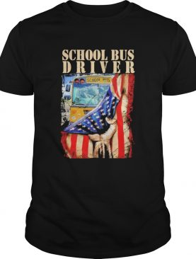 School Bus Driver American Flag shirt