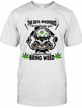 Skull Weed I'M Blunt Because God Rolled Me That Way T-Shirt