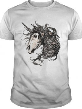 Unicorn Skull Flower shirt
