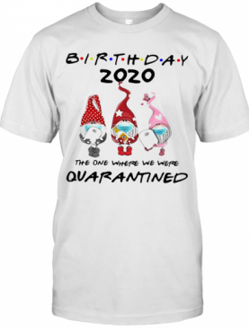Birthday 2020 Gromes Mask Toilet Paper The One Where They Were Quarantined T-Shirt