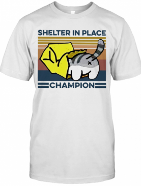 Cat Shelter In Place Champion Vintage T-Shirt