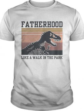 Dinosaurs Fatherhood like a walk in the park vintage shirt