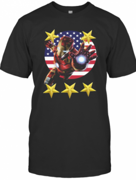 Iron Man American Flag Independence Day Stars T-Shirt